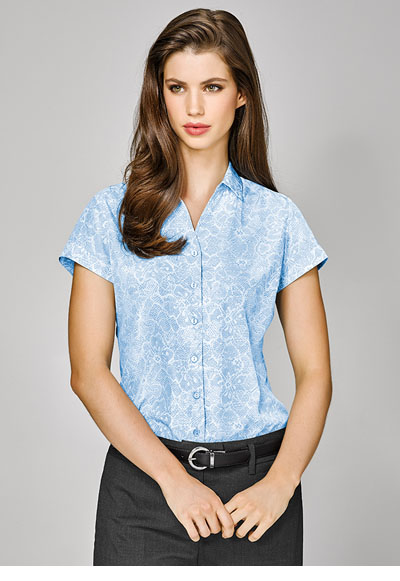 40512 Solanda Ladies Print S/Sleeve Shirt
