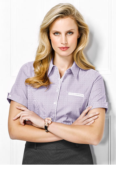 41722 Calais Ladies Short Sleeve Shirt