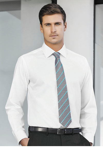 99102 Men\'s Single Contrast Stripe Tie
