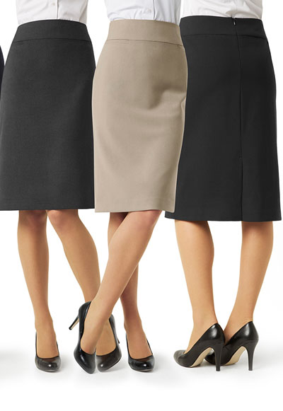 BS29323 Ladies Classic Below Knee Skirt