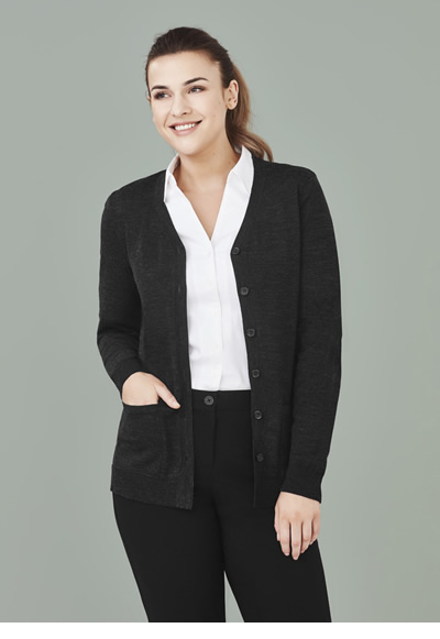 CK045LC Womens Button Front Cardigan