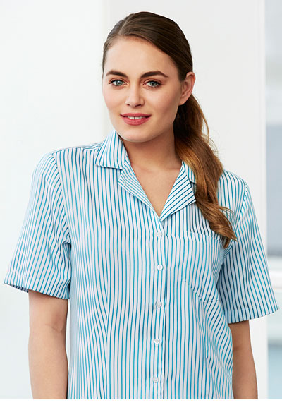 S266LS Ladies Stripe Oasis Overblouse